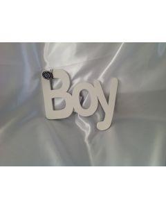 Houten tekst Boy