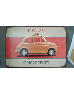 Metalen bord FIAT 500