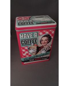 Retro bewaarblik Coffee