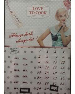Nostalgische kalender metaal