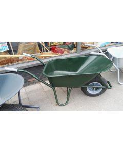Kruiwagen groen metaal