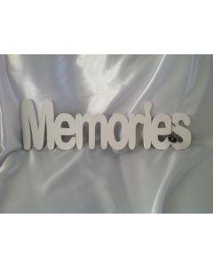 Houten tekst Memories