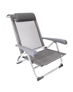 BC Beach stoel grijs