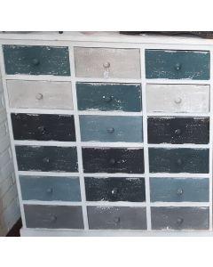 Ladenkastje van hout blauw wit