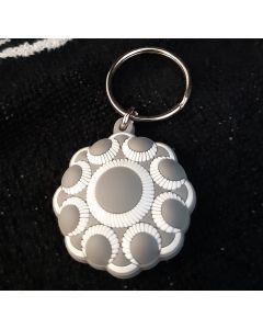 Zeeuwse knop sleutelhanger grijs