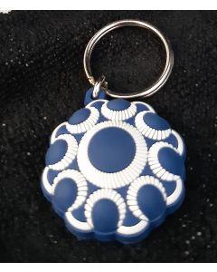 Zeeuwse knop sleutelhanger blauw