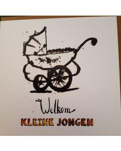 """Kaart Petit Paris """"Welkom Kleine Jongen"""""""