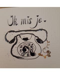 """Kaart Petit Paris """"Ik Mis Je"""""""