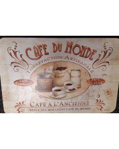 Placemat Cafe du Monde