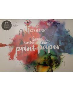 Talens printpapier  ecoline 75 sheets