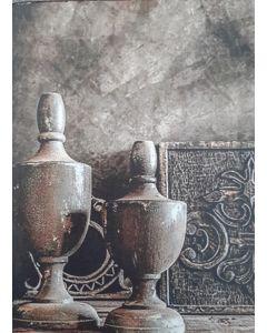 Fiberboard bordje barok vintage
