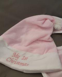 Kerstmuts My 1st Christmas incl slabbetje
