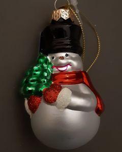 Kerstbal sneeuwpop