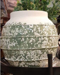 Groene vaas, steen