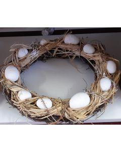 Krans met eieren