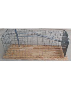 Rattenval van hout, kooi