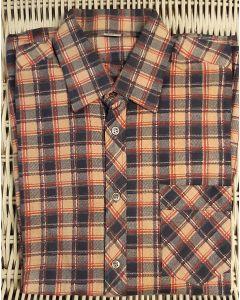 Overhemd flanel rood/blauw
