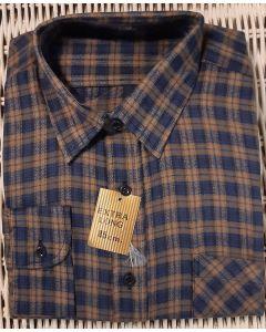 Overhemd flanel blauw/bruin