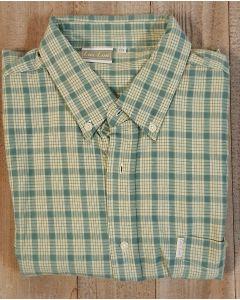Overhemd korte mouw groen geruit