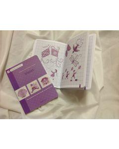 Borduurboek: paars
