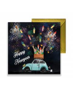 """Kaart Petit Paris """"Happy Newyear"""""""