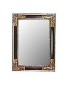 Zilveren spiegel met zwart tussenstuk