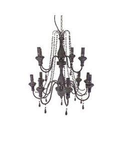 Kroonluchter Grijs 12 lamps