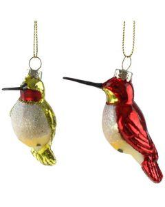 Kerstbal vogeltjes assorti
