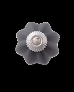 Deurknop grijs groot
