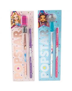 Topmodel Popstar Microfoon potlood en gum
