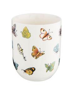 Clayre & Eef mokjes  wit vlinder