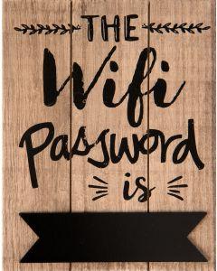 Houten tekstbordje, Wifi password