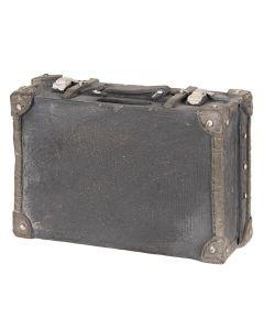 Spaarpot koffer Zwart