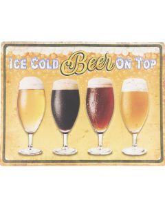 Metalen tekstbord, Ice Cold beer