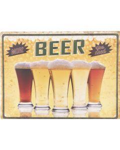 Metalen tekstbord, Beer