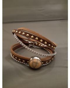 Armband met schuivertje en steen