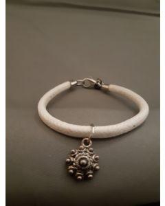 Zeeuwse knop armband Wit