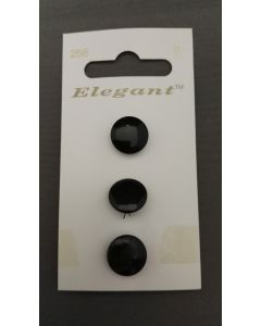 Elegant knopen set van 3 zwart
