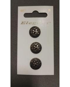Elegant knopen set van 3 zilver kleur
