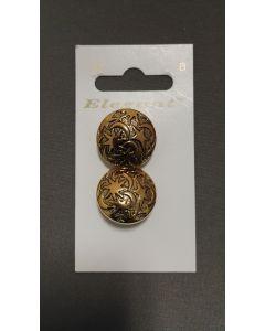 Elegant knopen set van 2 goud kleurig