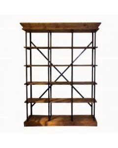 Boekenkast metaal hout uitlopend