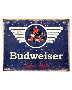 Budweiser Bier metalen bord