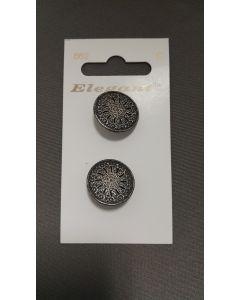 Elegant knopen set van 2 zilver kleurig