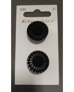 Elegant knopen set van 2 zwart bewerkt