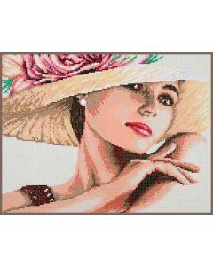 Dame met Hoed Diamant Painting