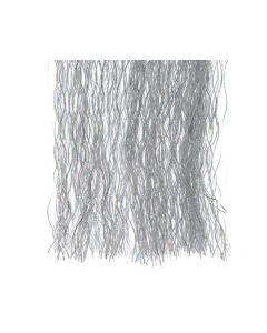 Lametta krulslinger zilver/wit