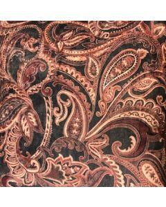 Bordeaux kussen met barok print
