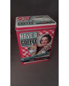 Retro bewaarblik Coffee