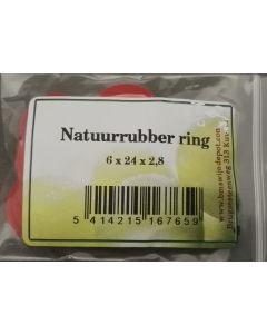 Beugelsluitingen, rubberen ringen 10 stuks