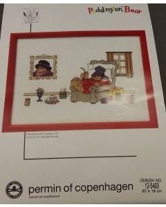 DMC Borduur pakket Paddington bear in stoel